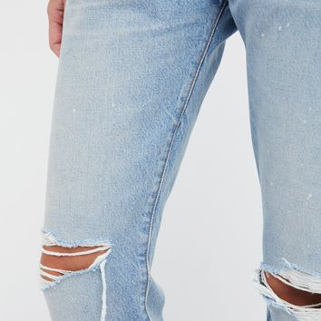 Free People 501 Original Distressed Jeans