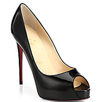 Christian Louboutin - Patent Leather Peep-Toe Pumps - Saks Fifth Avenue Mobile