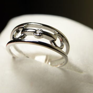 Simplicity & Beauty Equestrian Silver Snaffle Bit Ring