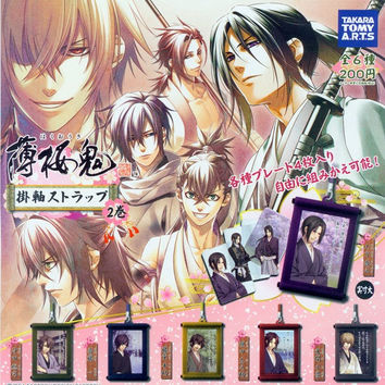 Takara Tomy Hakuouki Shinsengumi Kitan Gashapon Hanging Scroll Strap Part 2 6 Figure Set