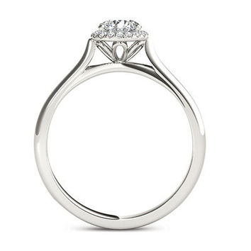 1/2 CT. T.W. Diamond Frame Engagement Ring in 14K White Gold - Save on Select Styles - Zales