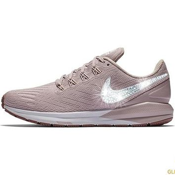 Nike Air Zoom Structure 22 + Crystals - Particle Rose Smokey Mauve White  2194dc50c4e0