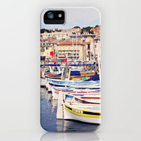 Boats in Cassis Harbor iPhone Case by Around the Island (Robin Epstein) | Society6