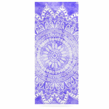 "Nika Martinez ""Boho Flower Mandala in Purple"" Lavender Luxe Rectangle Panel"