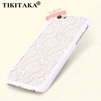 I6 6s Case Palace Paper Cut Flower Pattern Henna Floral Retro Skin Cover For Iphone 5 5s SE 6 6s / Plus Noble elegant Hard shell