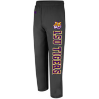 LSU Tigers Automatic Fleece Pants - Charcoal