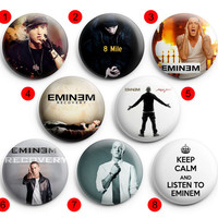 Eminem  Pinback Buttons Badge ,Pin Badge Buttons 1.5 inch / 38 mm round buttons