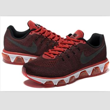 NIKE fashion knitted casual shoes sports running shoes Burgundy black