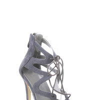 Aurora Lace Heels - Grey