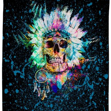 ROSC Skull Wild Spirit Shower Curtain