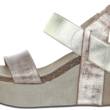 OTBT Women's Bushnell Wedge Sandal,Gold,8 M US