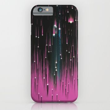 Pink Meteors iPhone & iPod Case by DuckyB