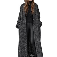 Women's Jacket Coat Casual Loose Fitting Vintage Winter Black