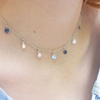 Plated Charm Choker - Necklaces - Jewellery - Accessories