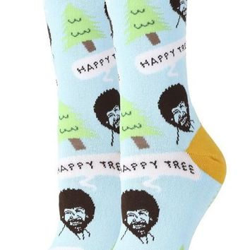 Bob Ross Happy Trees Women's Crew Socks