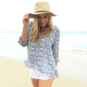 Denim Ink Blouse