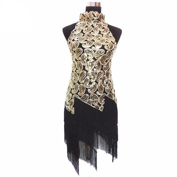 Halter Neck Sequin Flapper Dress