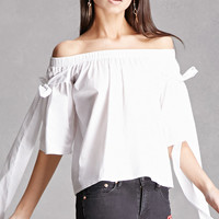 Self-Tie Off-the-Shoulder Top