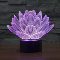 Stylish Creative Colorful Bright 3D Multi-color LED Illusion Lights [6282442566]