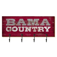 Legacy Athletic Alabama Crimson Tide Wood Plank Key Rack (Red)