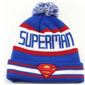PEAPIX3 Superman Beanie Hats Warm Winter Knitted caps men Women hip hop sports cap = 1946150596
