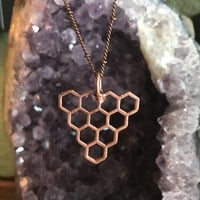 Copper Honey Comb Pendant