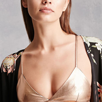 Metallic Triangle Bralette