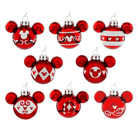 Disney Mickey Mouse Icon Ornament Set - Red | Disney Store