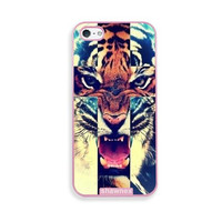 Shawnex Tiger Roar Cross Hipster Quote Pink Plastic iPhone 5 & 5S Case - Fits iPhone 5 & 5S