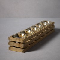 Planked Votive Display in  the SHOP Decor Decorating at BHLDN