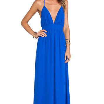 Lovers + Friends Good As Gold Maxi Dress in Blue