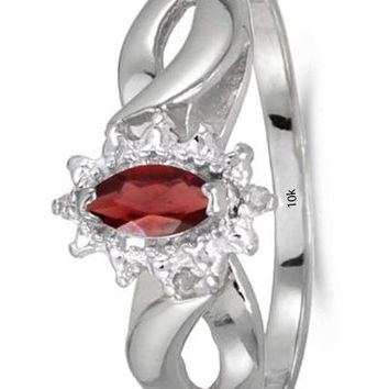 CERTIFIED 0.25 ctw 10k White Gold Solitiare Gemstone And Diamond Engagement Ring