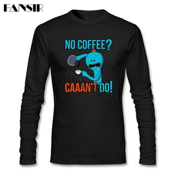 Latest Design T-shirts Mens Anime Cute Rick Morty Round Neck Long Sleeve Cotton Men T-shirts XXXL