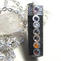 Black Tourmaline Chakra Pendant Necklace