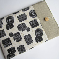Retro cameras Macbook Air 11 sleeve with pockets, MacBook Air 11 case, MacBook Air 11 Cover, MacBook case