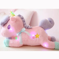 Aliexpress.com : Buy Nooer Luminous Led Light Stuffed Unicorn Plush Toy Soft Flashing Stuffed Animal Unicornio Doll Children Kids Birthday Gift from Reliable birthday gift suppliers on BSW Toy Store