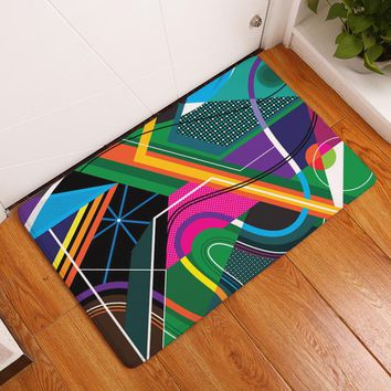 2017 New Fashion Creative Rugs Washable Psychedelic geometry Carpet Mats Bedroom Non-Slip Floor Mats Area rug for living room