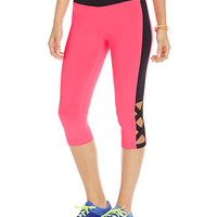 Material Girl Active Juniors' Lace-Up Look Cropped Leggings