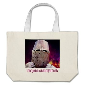 I Am Your Grandfather Large Tote Bag