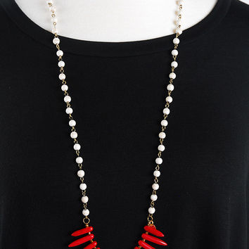 The Samantha Necklace - Red