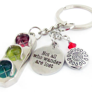 Traffic Light Keychain with Quote