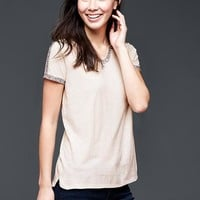 Gap Women Embroidered Tee