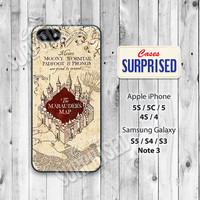 Harry Potter, Marauders Map, iPhone 5 case, iPhone 5C Case, iPhone 5S case, Phone case, iPhone 4 Case, iPhone 4S Case, HP01-1