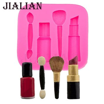 makeup tools lipstick nail polish chocolate Party DIY fondant cake decorating tools silicone mold
