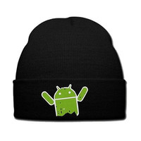green android snapback hat green android knit hat beanie