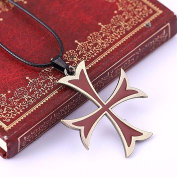 Fashion  Assassins  Creed  Templar  Necklace  Alloy