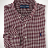 Slim-Fit Mini-Checked Shirt