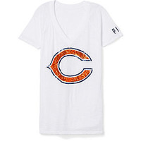 Chicago Bears Bling V-Neck Tee - PINK - Victoria's Secret