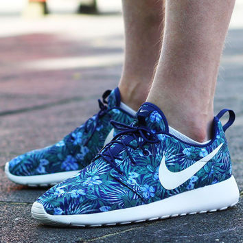 9171fce9c24f NIKE Roshe One Print Premium Women Men Casual Running Sport Shoes Sneakers  Shoes