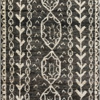 Surya Bjorn BJR1000 Black/Brown Natural Fiber Area Rug